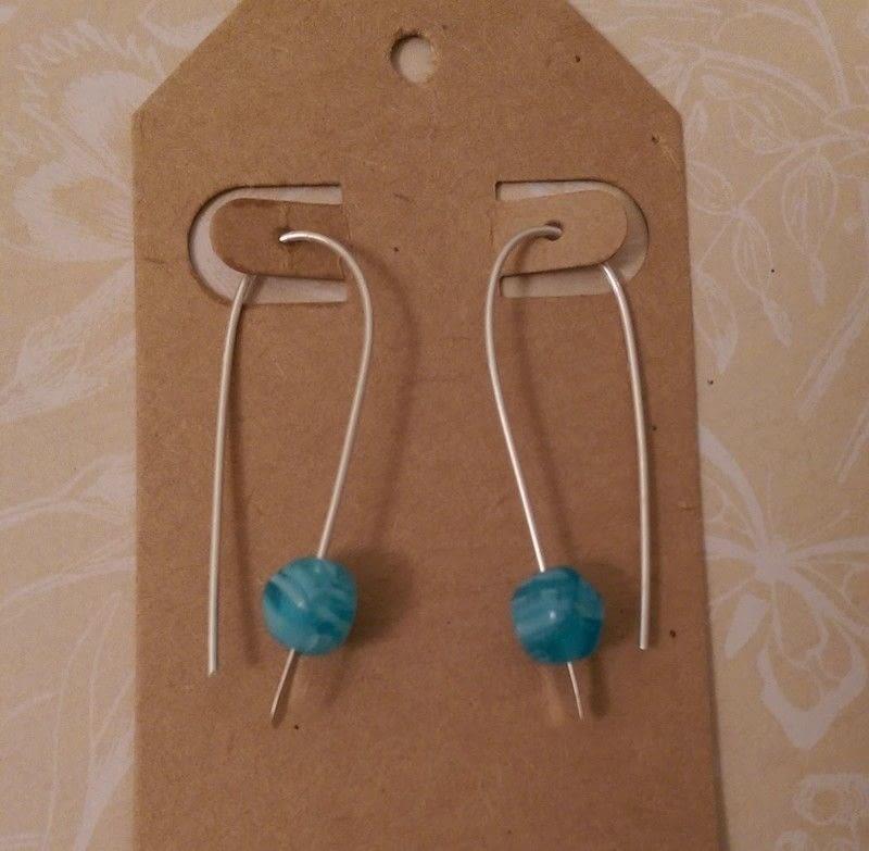 Simple Silver Drop Earrings · How To Make A Dangle Earring ...