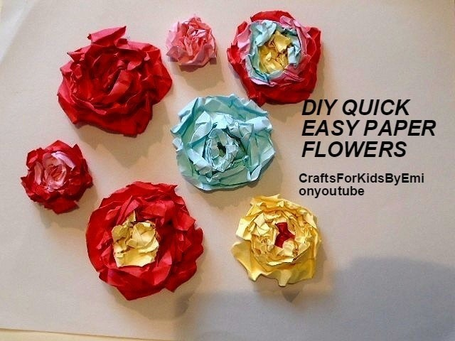 Quick easy paper flowers how to make a piece of paper art quick easy paper flowers to make free tutorial with pictures on how to make mightylinksfo