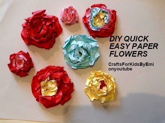Quick easy paper flowers how to make a piece of paper art quick easy paper flowers mightylinksfo Images