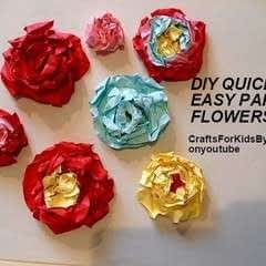 Quick, Easy, Paper Flowers,
