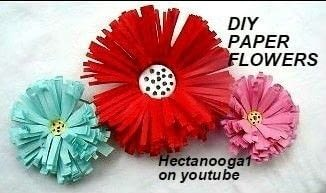 Quick easy paper flowers tutorial .  Free tutorial with pictures on how to make a piece of paper art in under 5 minutes using paper, scissors, and glue. How To posted by Emi H.  in the Papercraft section Difficulty: Easy. Cost: No cost. Steps: 1