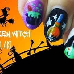 Halloween Witch Nail Art!