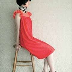Dress With Shoulder Ruffles