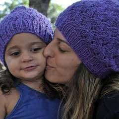 Purple Stitch Project Beanie