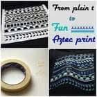 T Shirt Aztec Pattern With Maskingtape