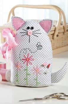 Easy to Learn Hand Embroidery .  Free tutorial with pictures on how to make a pin cushions in under 120 minutes by sewing with fabric, fabric, and cotton. Inspired by cats. How To posted by Annie's Publishing.  in the Sewing section Difficulty: Simple. Cost: Cheap. Steps: 16