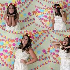 No Sew Photo Booth Garland