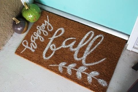 Create a painted doormat that is perfect for fall!  .  Free tutorial with pictures on how to make a door mat in under 30 minutes by decorating with doormat, paintbrush, and paint palette. How To posted by Elizabeth R.  in the Art section Difficulty: Easy. Cost: Absolutley free. Steps: 6
