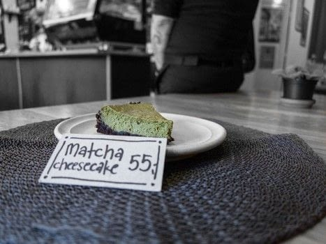 Cook a matcha cheesecake with Moment Cafe, Prague .  Free tutorial with pictures on how to bake a cheesecake in under 35 minutes by cooking and baking with silken tofu, lemon, and sugar. Recipe posted by A Bite To Eat.  in the Recipes section Difficulty: Simple. Cost: Cheap. Steps: 3