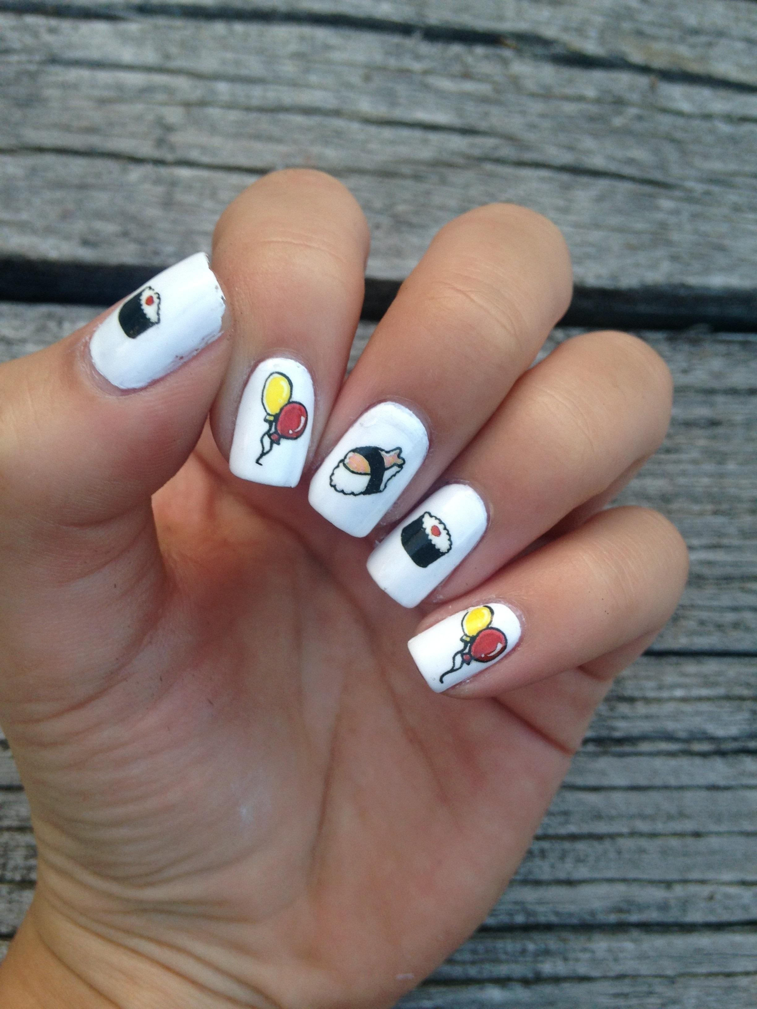 Sushi Nails · How To Paint A Food Nail · Beauty On Cut Out