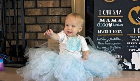 Create a beautiful and simple cinderella outfit for your little princess - as a costume or for everyday wear! See more great posts from Britt and Sarah at www.diyjustcuz.com .  Free tutorial with pictures on how to make a princess costume in under 120 minutes by transfering and not sewing with t shirt, silhouette cutting machine, and vinyl. Inspired by babies. How To posted by DIY Just Cuz Team.  in the Other section Difficulty: Easy. Cost: Cheap. Steps: 7