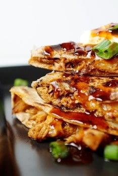Easy weeknight dinner!  .  Free tutorial with pictures on how to cook a quesadilla in 9 steps by cooking with chicken, soy sauce, and honey. Recipe posted by Lindsay T.  in the Recipes section Difficulty: Simple. Cost: 3/5.