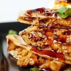 Slow Cooker Honey Garlic Chicken Quesadillas
