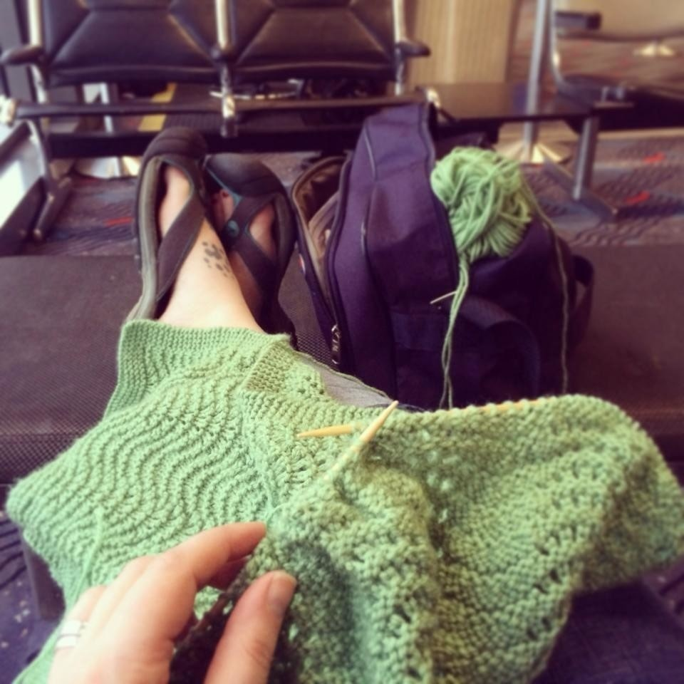 Fan And Feather Baby Blanket · How To Stitch A Knit Or Crochet ...