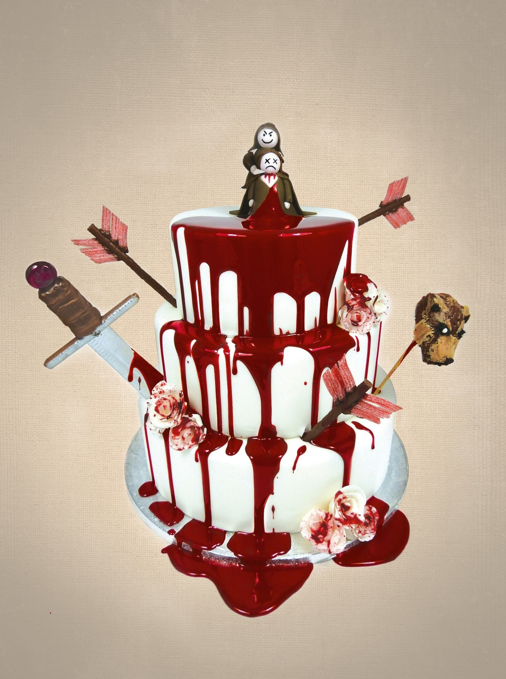 Red Velvet Wedding Cake Extract From Game Of Scones By Jammy