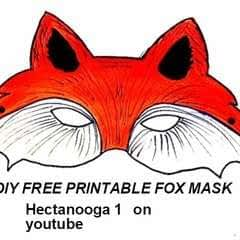 Free Printable, Fox Mask