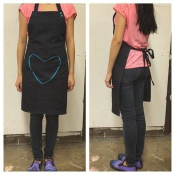 A Cute Heart-themed Adjustable Apron with KAMsnaps .  Free tutorial with pictures on how to make a full apron in 13 steps by sewing with fabric, ribbon, and kamsnaps. Inspired by hearts. How To posted by Joanne N.  in the Sewing section Difficulty: 3/5. Cost: Cheap.