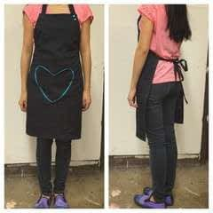 Adjustable Heart Themed Apron Using KAMsnaps