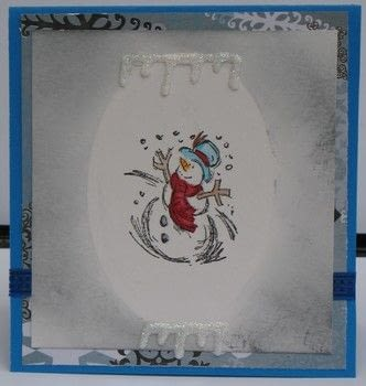 Creating A Frame to Match Your Stamped Image .  Free tutorial with pictures on how to make a papercraft in under 20 minutes by stamping with cardstock, die, and stampers. Inspired by snowmen and snowman. How To posted by Peg R.  in the Papercraft section Difficulty: Easy. Cost: 3/5. Steps: 8