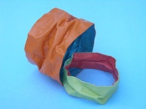 Recycle a paper grocery bag and create a bracelet! .  Free tutorial with pictures on how to make a paper bracelet in under 60 minutes using paper bag, acrylic paint, and paintbrush. How To posted by Terry R.  in the Jewelry section Difficulty: Easy. Cost: Absolutley free. Steps: 6