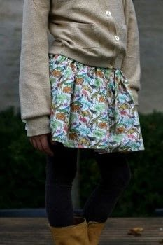 Learn how to create a super quick gathered skirt with lining. .  Free tutorial with pictures on how to sew a gathered skirt in under 80 minutes by sewing and machine sewing with elastic band and fabrics. How To posted by An_StraightGrain.  in the Needlework section Difficulty: Easy. Cost: No cost. Steps: 8