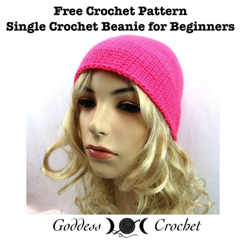 Crochet Hair Tutorial For Beginners : Single Crochet Beanie For Beginners ? How To Make A Hat ? Yarncraft ...