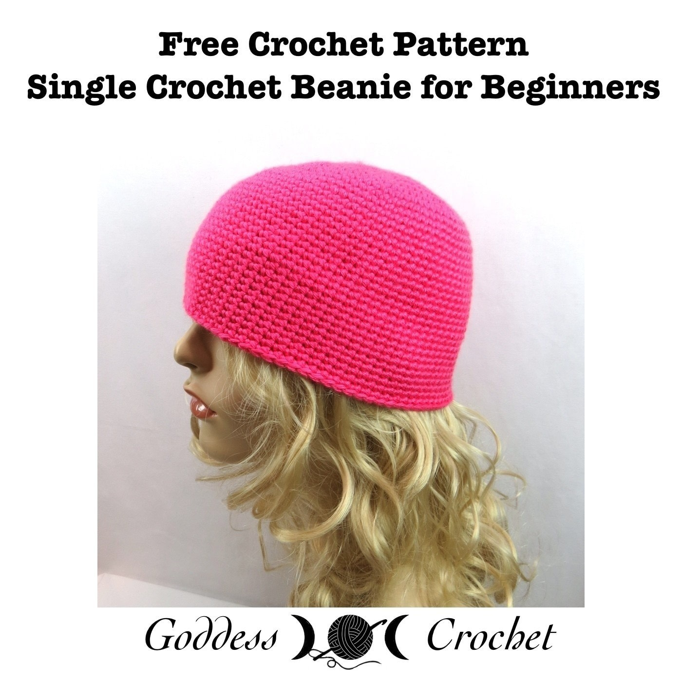 ... single crochet beanie for beginners . Free tutorial with pictures on  how to make 7f8aa336716