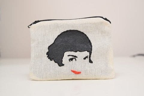 Embroidered Amelie Coin Purse .  Make a zipper pouch in under 120 minutes by embroidering and sewing with fabric, thread, and needle. Inspired by movies and amélie. Creation posted by Knot Cool.  in the Needlework section Difficulty: 3/5. Cost: Absolutley free.