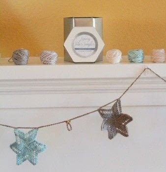 By Kristen Ashbaugh Helmreich for Jimmy Beans Wool .  Free tutorial with pictures on how to make a garland in under 180 minutes by crocheting and knitting with weight, linen, and double pointed knitting needles. How To posted by Shop Showcase.  in the Yarncraft section Difficulty: Simple. Cost: Cheap. Steps: 3