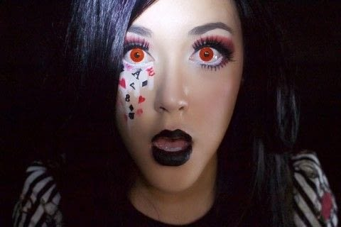 Hey Cheshire kitties and Mad Hatters! .  Free tutorial with pictures on how to create a face painting in under 45 minutes by applying makeup with eyeshadow, eyeliner, and mascara. Inspired by halloween, alice in wonderland, and alice. How To posted by Takara Dori.  in the Beauty section Difficulty: 4/5. Cost: Cheap. Steps: 37