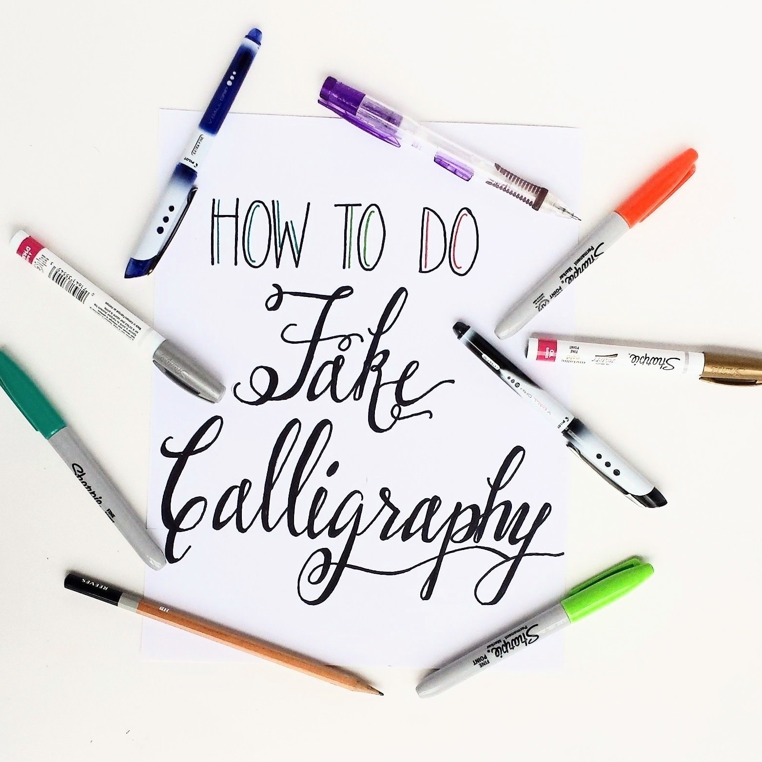 How to create fake calligraphy how to draw a piece of Sharpie calligraphy pen