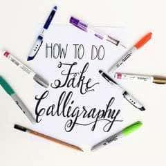 How To Create Fake Calligraphy