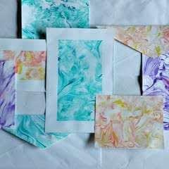 Paper Marbling Using Shaving Cream