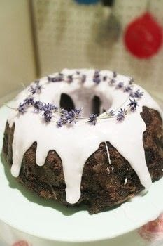 A gin infused lavender & chocolate bundt cake .  Free tutorial with pictures on how to bake a bundt cake in under 35 minutes by cooking and baking with sugar, butter, and soya milk . Inspired by lavender. Recipe posted by Cat Morley.  in the Recipes section Difficulty: Simple. Cost: Cheap. Steps: 7