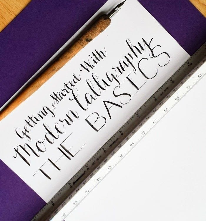 Getting started with modern calligraphy the basics how Calligraphy basics