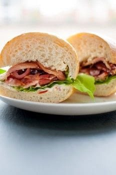 Kick your BLT up a notch! .  Free tutorial with pictures on how to cook a BLT sandwich in under 22 minutes by cooking with bacon, mayo, and garlic. Recipe posted by saltandlavender.  in the Recipes section Difficulty: Easy. Cost: Cheap. Steps: 4