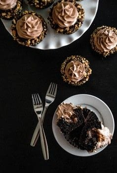 Bake some Hazelnut Praline Ganache Cupcakes .  Free tutorial with pictures on how to bake a chocolate cupcake in under 120 minutes by cooking and baking with sugar, all purpose flour, and cocoa. Recipe posted by Connie  Z.  in the Recipes section Difficulty: 3/5. Cost: Cheap. Steps: 5