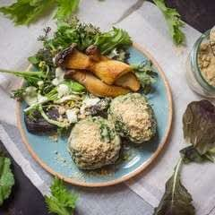 Spinach Dumplings With Walnut Parmesan