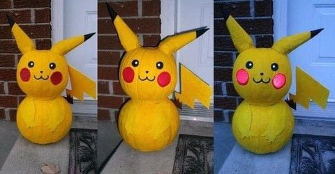 Pokemon halloween pumpkin .  Make a misc in under 120 minutes using cardboard, paintbrush, and hot glue gun and glue sticks. Inspired by halloween and pokemon. Creation posted by Crimsaros.  in the Other section Difficulty: 3/5. Cost: 3/5.