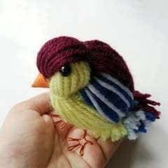 Diy Cute Yarn Bird
