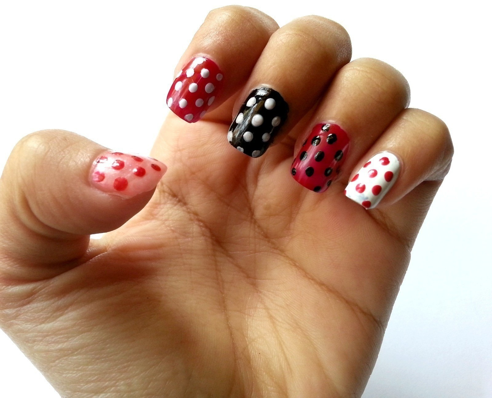 Diy Polka Dot Nail Art How To Paint Patterned Nail Art Beauty On