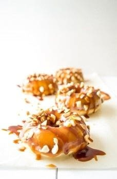 Caramel donuts with a kick of whiskey! .  Free tutorial with pictures on how to bake a donut in under 180 minutes by cooking, baking, and decorating food with active dry yeast, water, and flour. Inspired by donuts and caramel. Recipe posted by Connie  Z.  in the Recipes section Difficulty: Simple. Cost: Cheap. Steps: 2