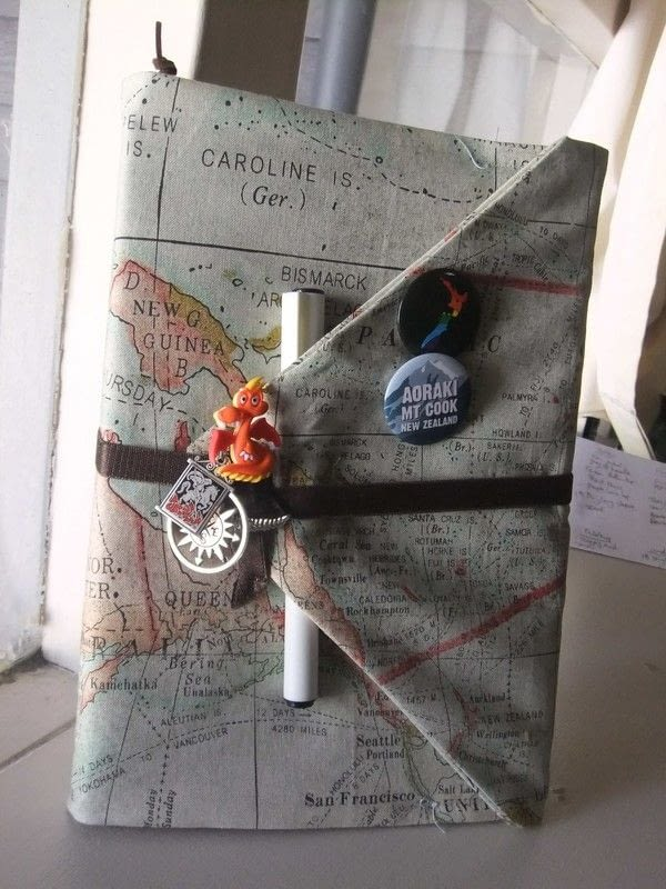 Book Cover Sewing S : Diy fabric journal book cover · how to make a travel