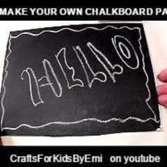 How To Make Chalkboard Paint, And Chalkboards