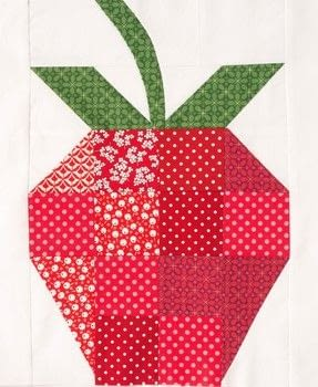 A Block A Day .  Free tutorial with pictures on how to make a patchwork quilt in under 120 minutes by sewing and patchworking with fabric, fabrics, and fabric. Inspired by strawberries. How To posted by Ivy Press.  in the Sewing section Difficulty: Simple. Cost: Cheap. Steps: 5