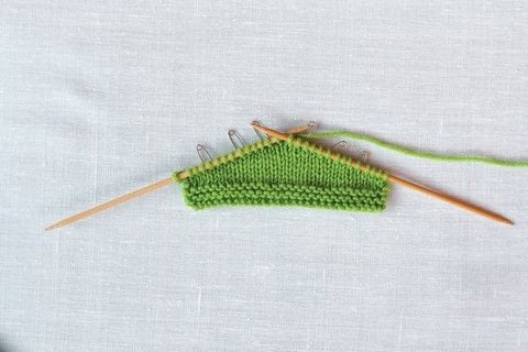 Short Row Knits .  Free tutorial with pictures on how to knit  in under 60 minutes by knitting with knitting needles and yarn. How To posted by GMC Group.  in the Yarncraft section Difficulty: Simple. Cost: Cheap. Steps: 7