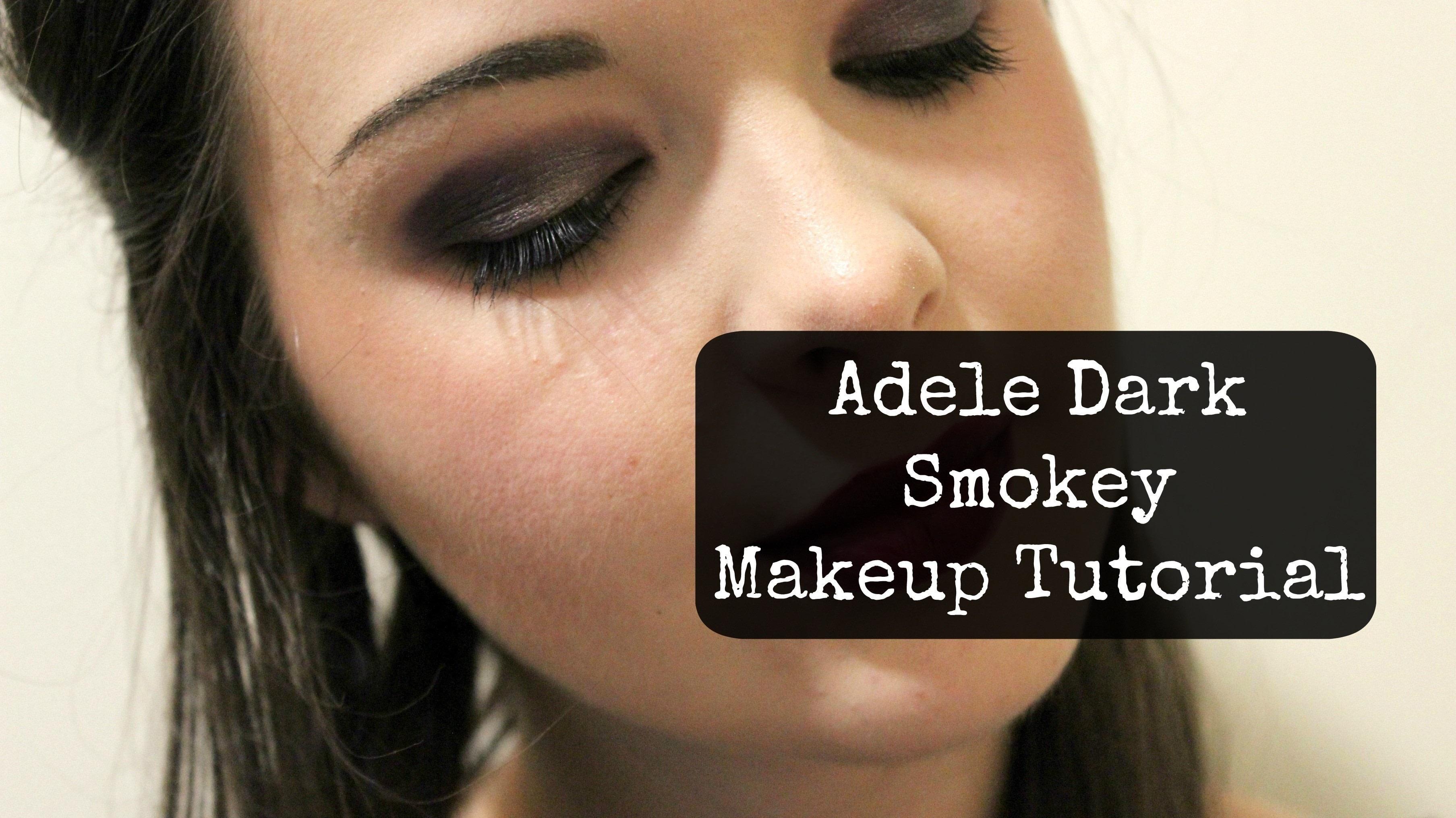 Adele Dark Smokey Makeup Look How To Create A Smokey Eye Beauty On Cut Out Keep