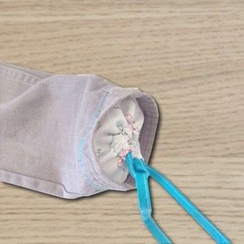Great way to repurpose an old pair of jeans! .  Free tutorial with pictures on how to make a drawstring pouch in under 60 minutes using pants, bias tape, and fabric scraps. How To posted by Diana P.  in the Sewing section Difficulty: Easy. Cost: No cost. Steps: 6