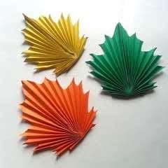 DIY Paper Maple Leaves