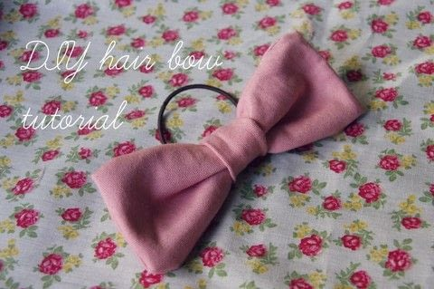 A cute hair bow to compliment any outfit! .  Free tutorial with pictures on how to make a bobble / tie in under 60 minutes by sewing with fabric, needle, and thread. Inspired by bows. How To posted by Zoe F.  in the Sewing section Difficulty: Easy. Cost: Absolutley free. Steps: 6